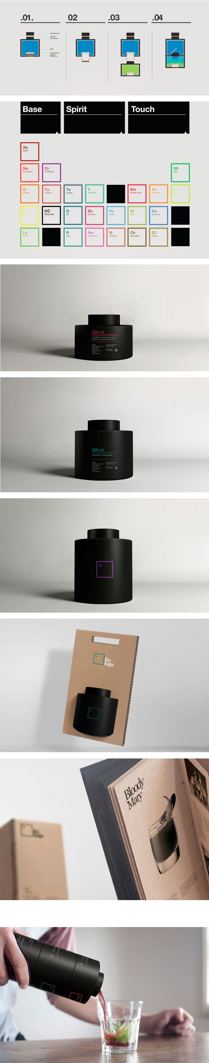 Enjaka Cocktail Mix — Tatabi Studio This is great #packaging #branding #marketing PD
