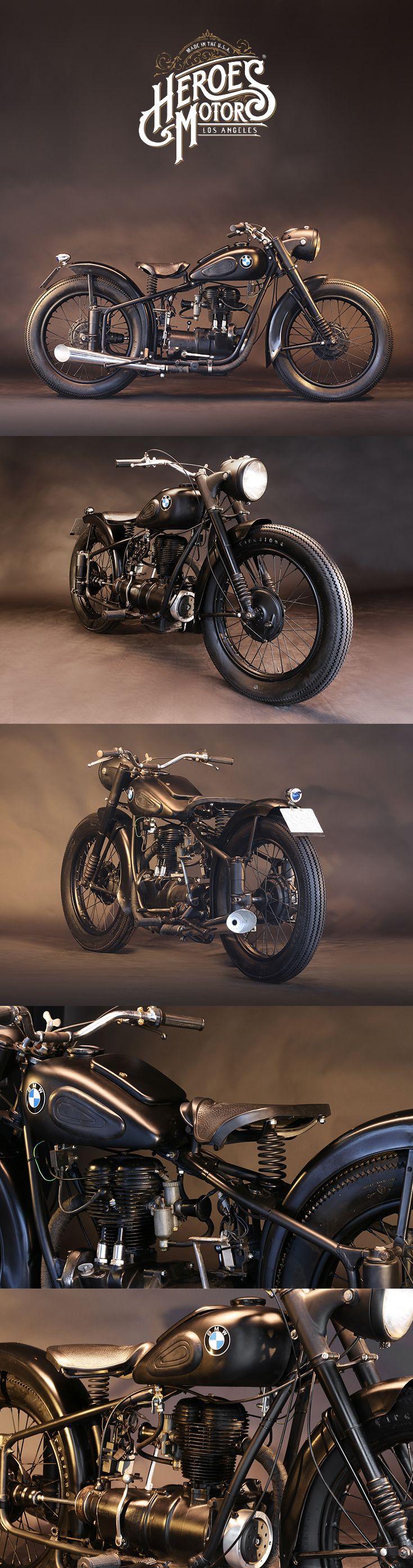 1950 BMW 250cc R25 #vintagemotorcycles #triumph #harleydavidson #losangeles #cal…