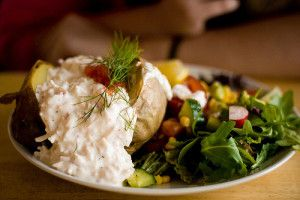 Potato turns a healthy salad into a satisfying meal.  5 Ways to Make Your Spuds 'Skinny' http://www.visiontimes.com/2015/08/04/5-ways-to-make-your-spuds-skinny.html