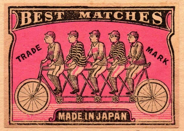 vintage matchbox label: from Japan, circa 1910