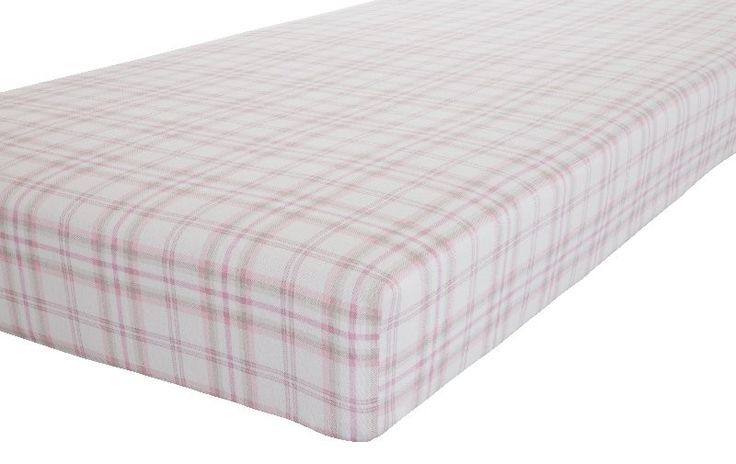 Check Flannelette Fitted Sheet - Pink/Grey - Kingsize