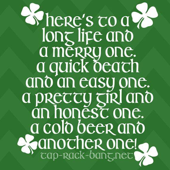 Irish Drinking Toast St. Patrick's Day Shirt by ...