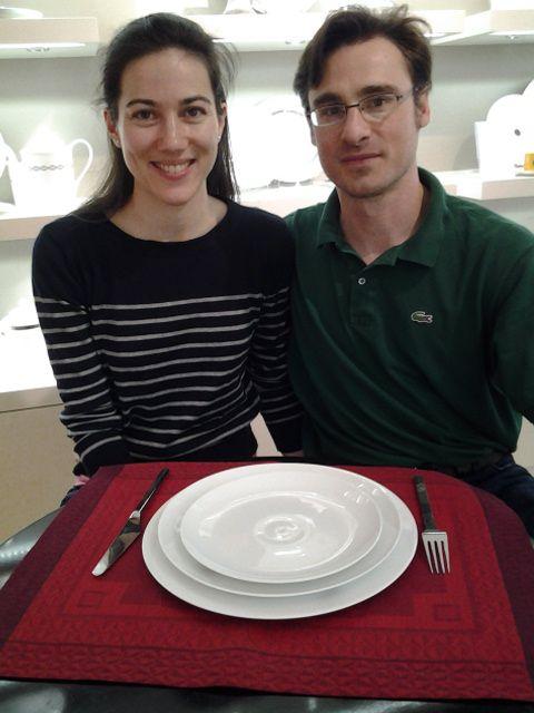 fabien et elodie ont choisi la collection bulle blanc pour leur liste de mariage dpose aux - Liste Mariage Galerie Lafayette