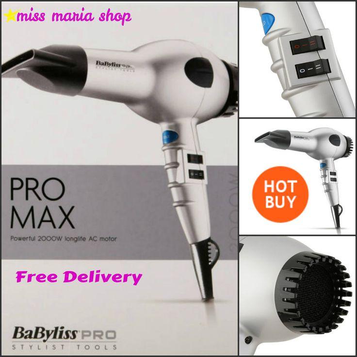 Professional Hairdryer Styler Salon Glossy Finish Nozzle 2000W 6 Heat Hair Dryer