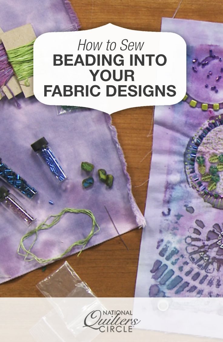 Sewing Fabric Beading Into The Design On Your Fabric Crazy Quiltingquilting