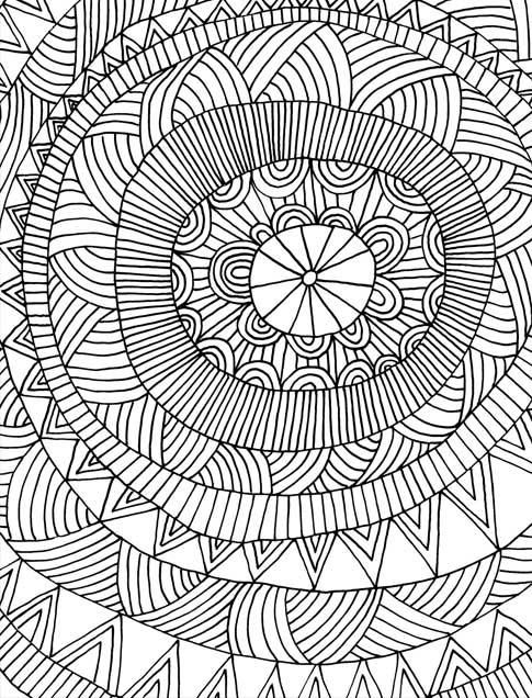 Just Add Color Geometric Patterns 30 Original Illustrations To Secret Garden Coloring BookAdult
