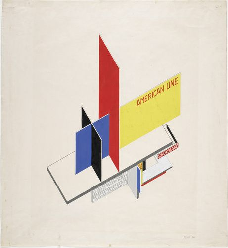 Herbert Bayer (American, b. Austria, 1900-1985). Design for kiosk and display boards, 1924. Gouache, ink, pencil, and cut-and-pasted print elements on paper. 20 3/4 x 19 1/16 in. (57.7 x 48.4 cm). Gift of the artist.