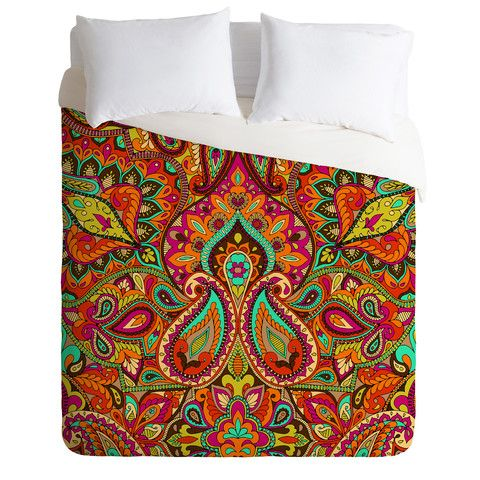 Aimee St Hill Paisley Orange Duvet Cover | DENY Designs Home Accessories