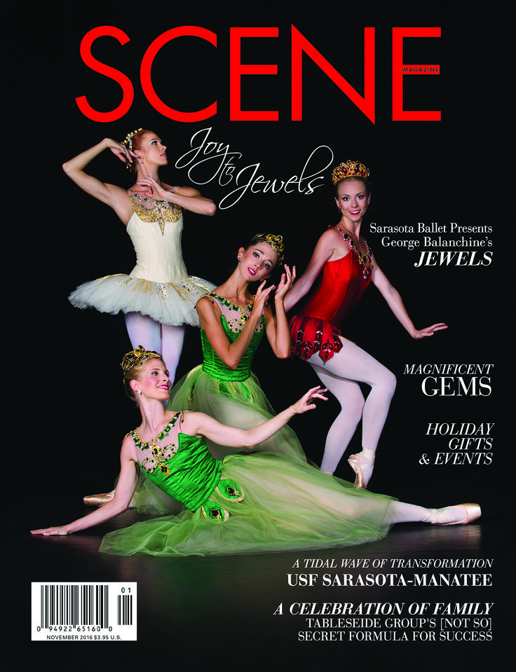 HOLIDAY SPLENDOR sparkles and shines in the November issue of SCENE Magazine, the longest-running publication in Sarasota.