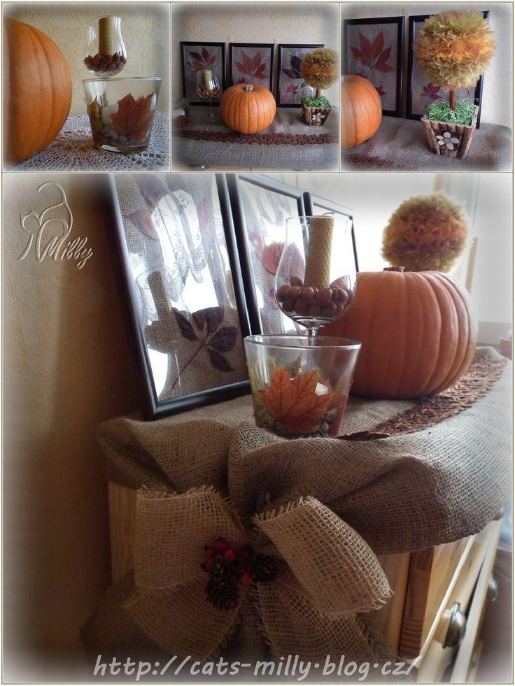 burlap, autumn, decoration