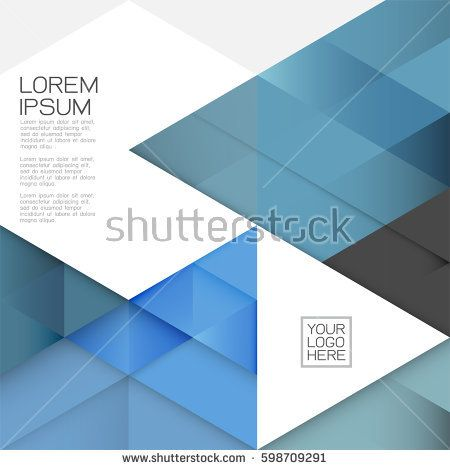 Modern layout template with transparent overlapping geometric on white space for text. Business or technology template. Corporate business or tech identity design, online presentation website element.