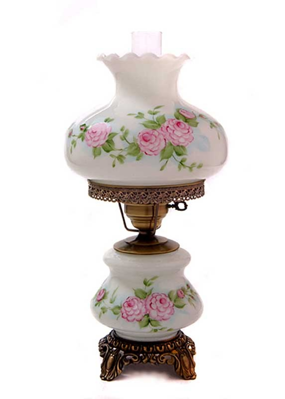 Nice Pink Red Roses Medium Hurricane Night Light Table Lamp   I Had A Lamp Very  Similar To This As A Little Girl. If I Have A Little Girl One Day I Will ...