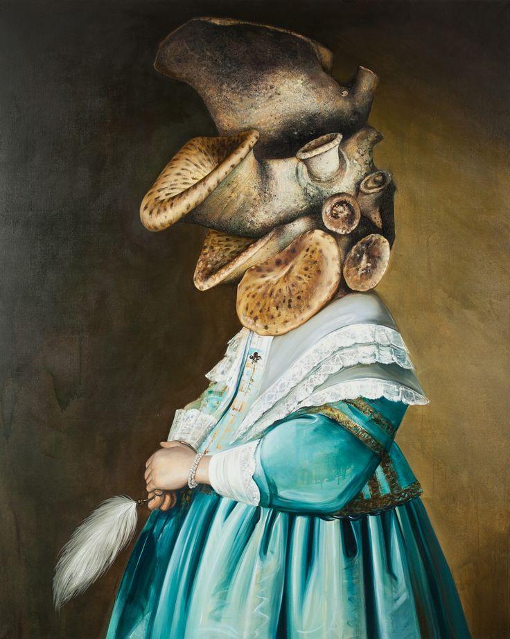"""Grand Prix_Ewa Juszkiewicz, Girl in Blue, fot. Jacek Rojkowski  41. Biennale Malarstwa """"Bielska Jesień 2013"""". http://artimperium.pl/wiadomosci/pokaz/81,surrealistyczna-i-barokowa-bielska-jesien-2013#.Un5IRflWySo"""