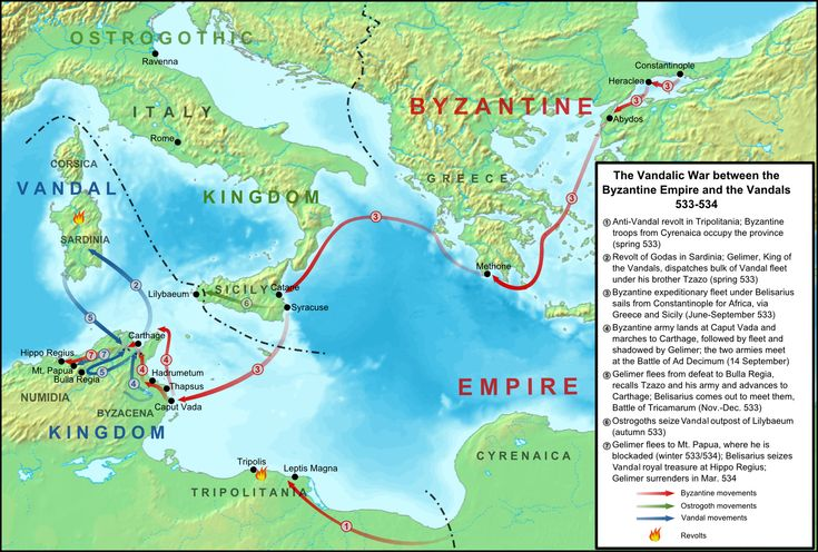 The Vandalic War was a conflict fought in North Africa between the forces of the Eastern Roman Empire and the Vandalic Kingdom of Carthage, in 533–534. It was the first of Justinian I's wars of reconquest of the lost Western Roman Empire.
