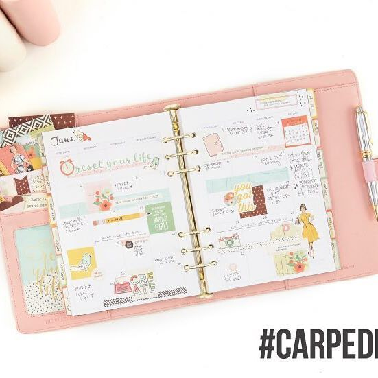 Did you see?! Today we revealed the first of 3 days of new Carpe Diem planners & accessories! Check out all of the loveliness on today's blog post (blog link in profile) & enter there for a chance to win a brand new Carpe Diem Reset Girl planner Boxed Set! #CarpeDiem2016 #TheResetGirlPlannerLaunch