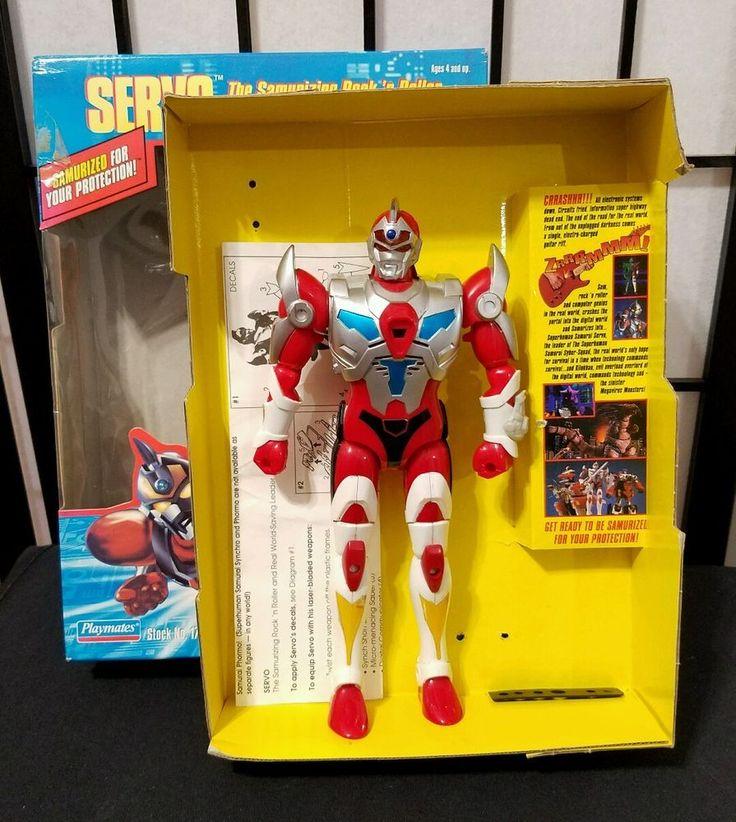 Superhuman Samurai Syber Squad Servo Playmates 1994 Ultraman Figure w/ Box #Ultraman