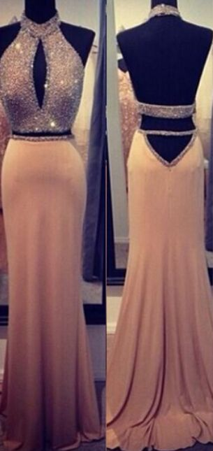 Two Pieces Shinning Special Design Beadings Prom Dress FROM 27DRESS.COM