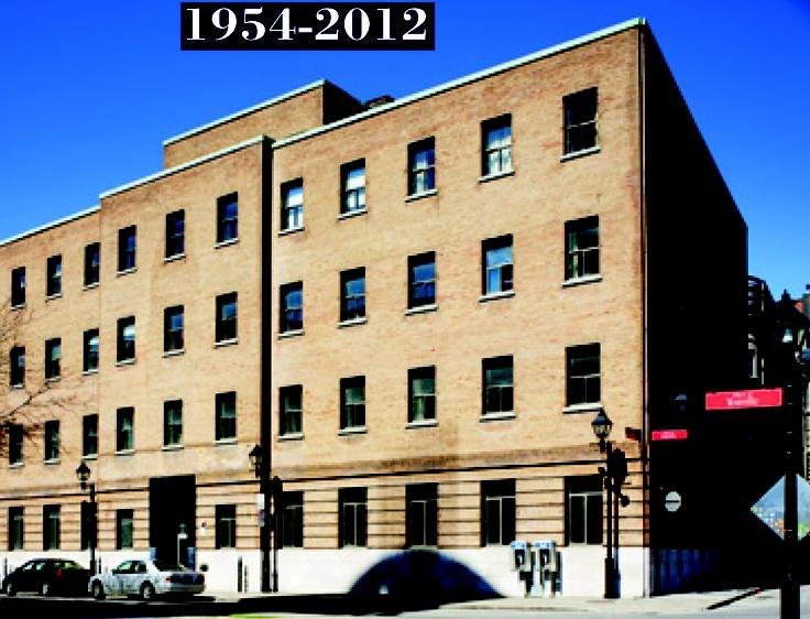 La Maison du Père jusqu'en 2004. Photo: Normand Rajotte, Pointe-à-Callière