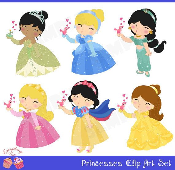Princesses Clip Art Set by 1EverythingNice on Etsy, $5.00