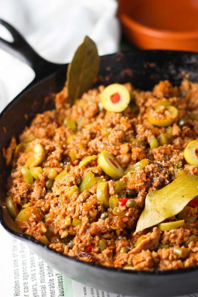 Turkey-Picadillo - An authentic cuban dish made with ground turkey ...