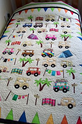 house of spoon: camping quilt  I like the idea of this. Anyone who camps knows you don't bring white linens with you (unless what you consider camping really isn't!!!)