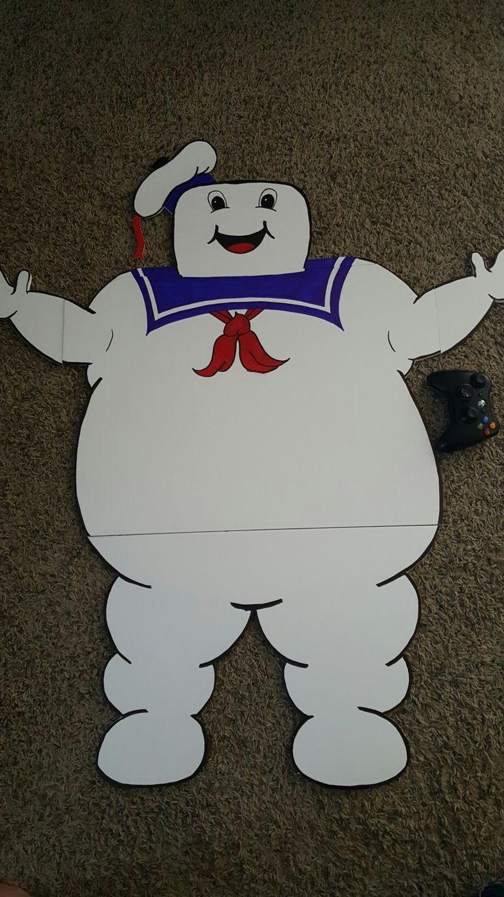 Stay puft marshmallow man made of foam board