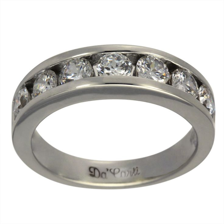 Modern Heavy Channel Set One Ct Diamond Anniversary Band -  This anniversary band is adorned with 1.00ct of brilliant round diamonds.    This heavy modern diamond band is 14K white gold. It has brilliant round channel set diamonds. Well-made, and affordably priced, this eternity band will always be in style. The settings for our rings are made in our Florida factory using the finest gold and G-H color, SI clarity conflict-free diamonds.    Dacarli has been manufacturing diamond jewelry…