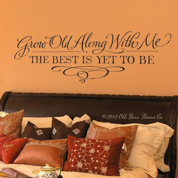 Black Friday SALE – Always Kiss Me Goodnight wall decal – master bedroom wall decal – hand drawn design