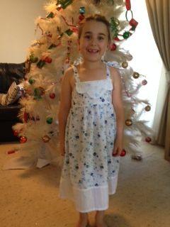 Tash and her christmas dress