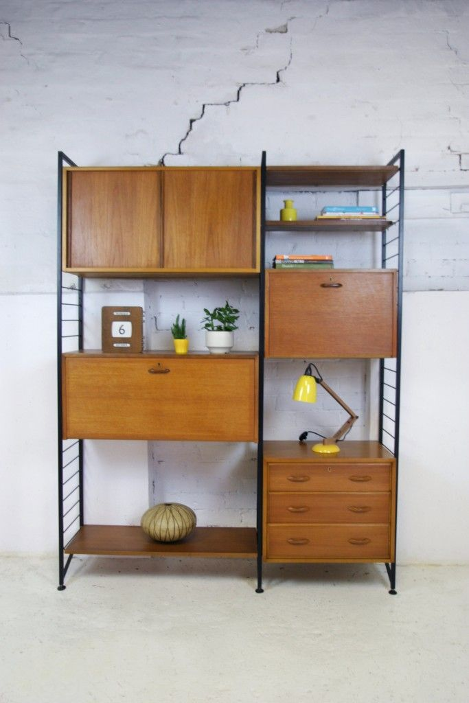 Ladderax modular storage/shelving system designed by Robert Heal for Staples of London.