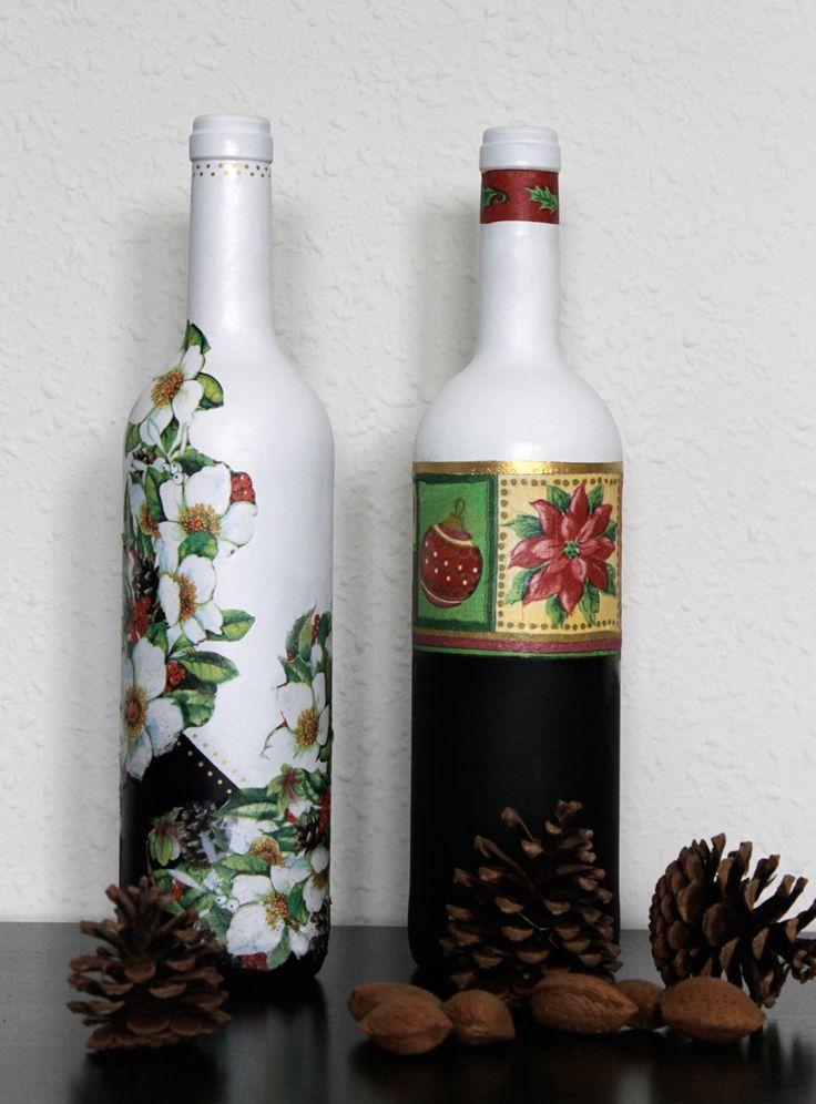 Las 25 mejores ideas sobre botellas decoradas para navidad en pinterest botellas decoradas - Botellas decoradas navidenas ...