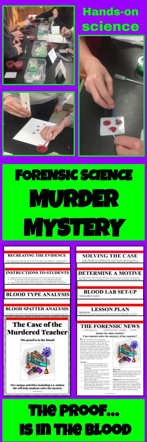 Forensic Science Murder Mystery - Blood Lab