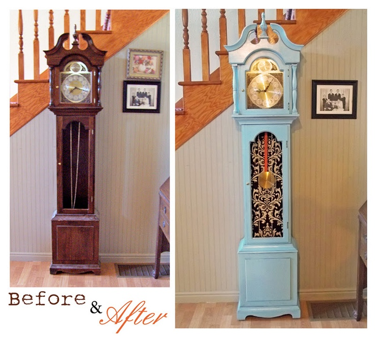 shabby chic grandfather clock - Google Search