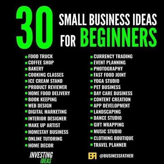 Thinking Of Starting Your Own Business These Are Some Of The Best Small Businesses Opp Business Ideas For Beginners Business Money Business Ideas Entrepreneur