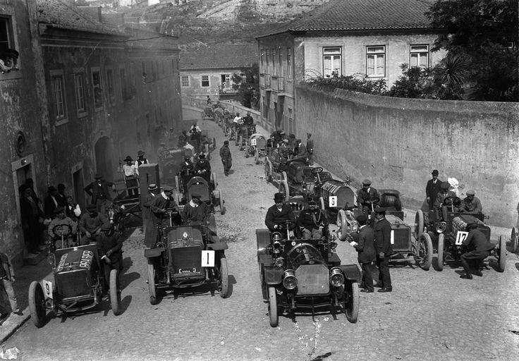 Corrida de automóveis em Alcântara, Lisboa, 1910