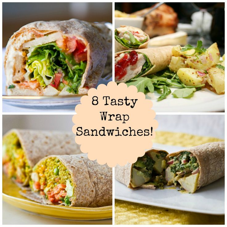 8 Delicious Wrap Sandwiches for Summer - Wraps are a great way to create portable food for hikes, daytime outings and picnics! Great summer food.
