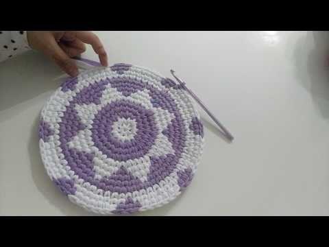 Penye ipten sırt çantası yapımı (ribbon ip ile çanta yapımı) -2 - YouTube