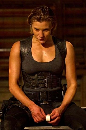 Katee Sackoff in the new Riddick movie. She kicked ass and was just profoundly, beautifully real.