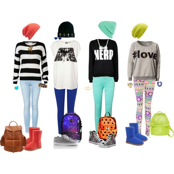 cute nerd outfits for nerd day | fashion look from June 2013 featuring Vero Moda sweatshirts, Pull ...