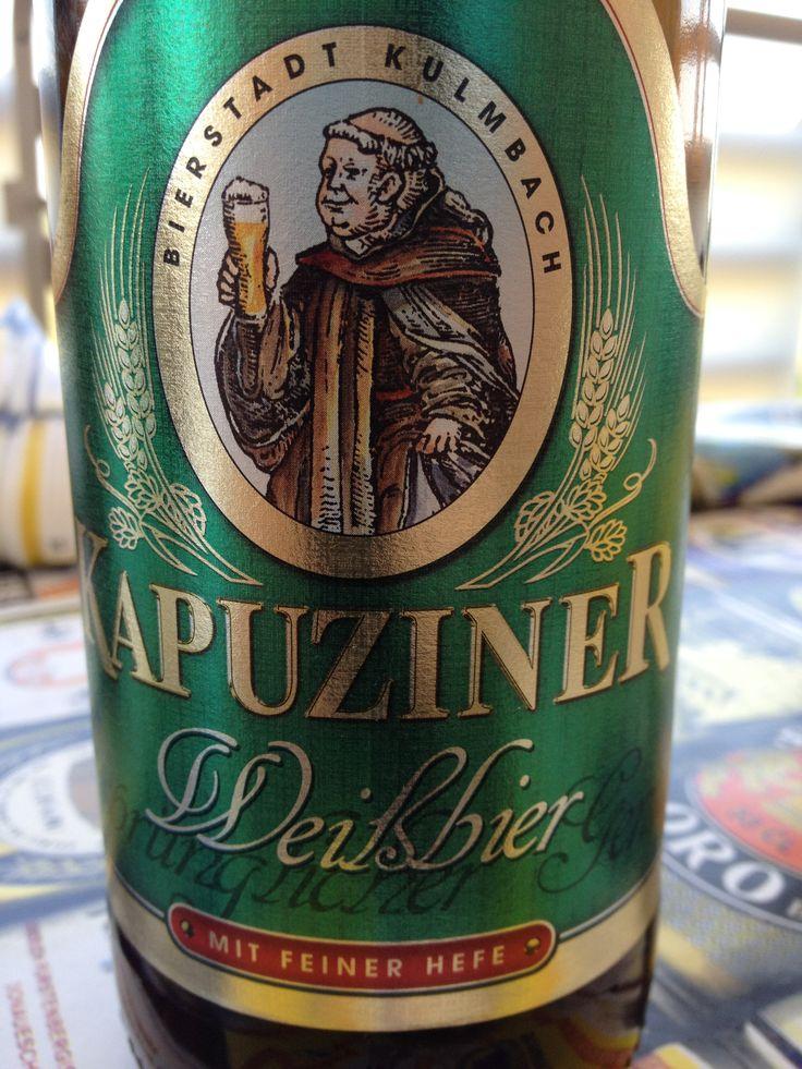 Kapuziner Weissbier  Brewed by Kulmbacher Brauerei (Schörghuber) Style: German Hefeweizen Kulmbach, Germany