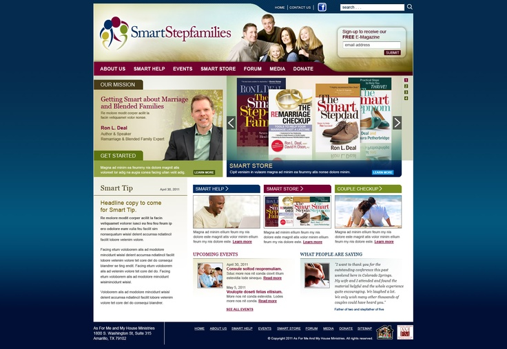 New website designed for leading non-profit stepfamily resource in America. http://www.SmartStepfamilies.com