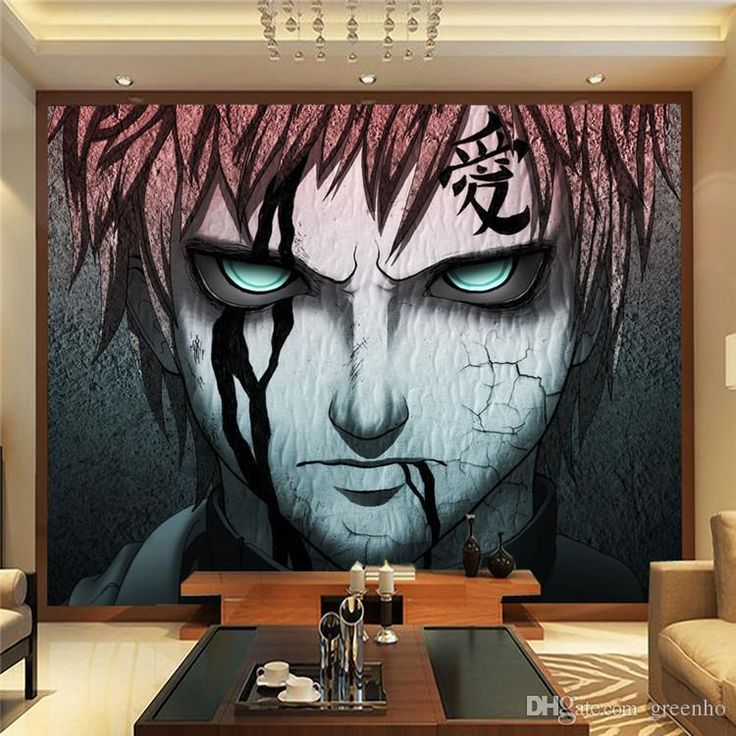 Japanese anime naruto photo wallpaper gaara wall mural for Custom mural wallpaper