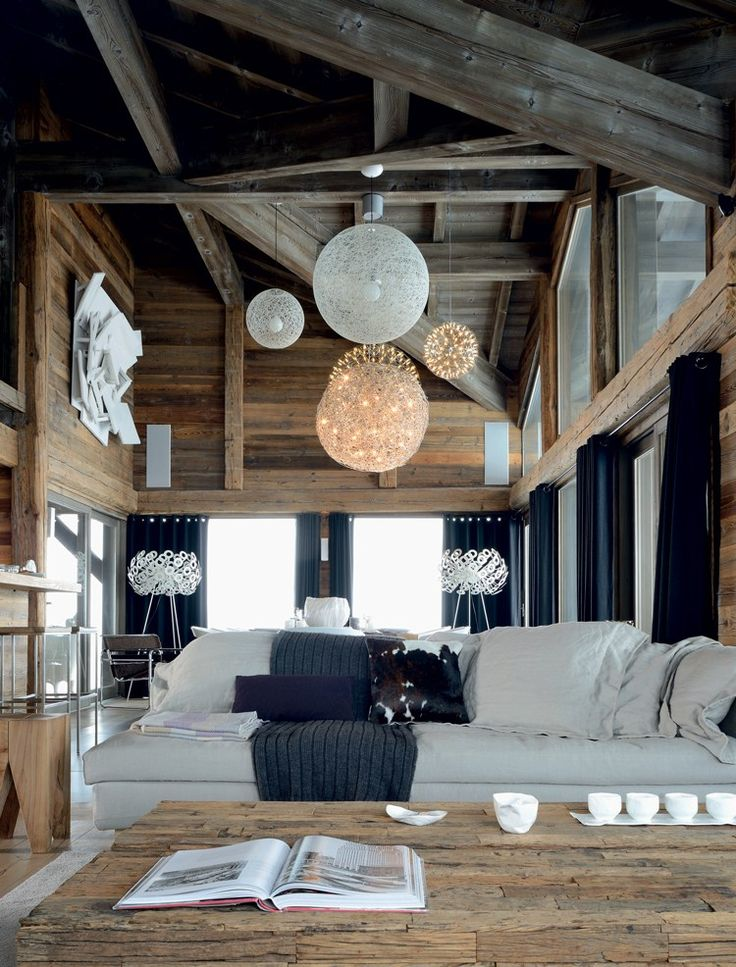 Salon Ecolo-chic, un chalet design