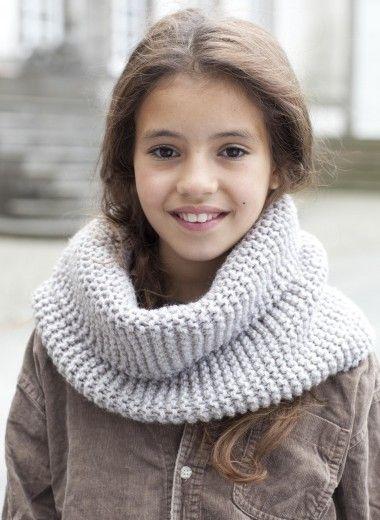 Snood enfant - version unie Tricothèque, broderie & tricot Achat en ligne
