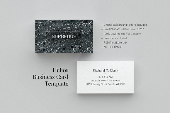 Business Card Template By Le Genda On Creativemarket Logo