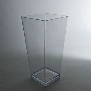 Square Clear Acrylic Vases