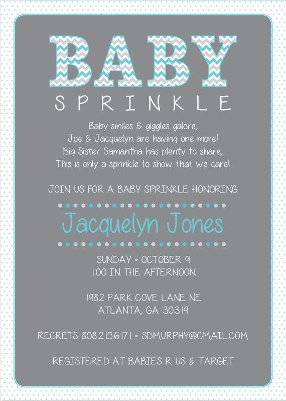 Pink Baby Sprinkle Shower Invitation / Pink by HappyHeartPrinting