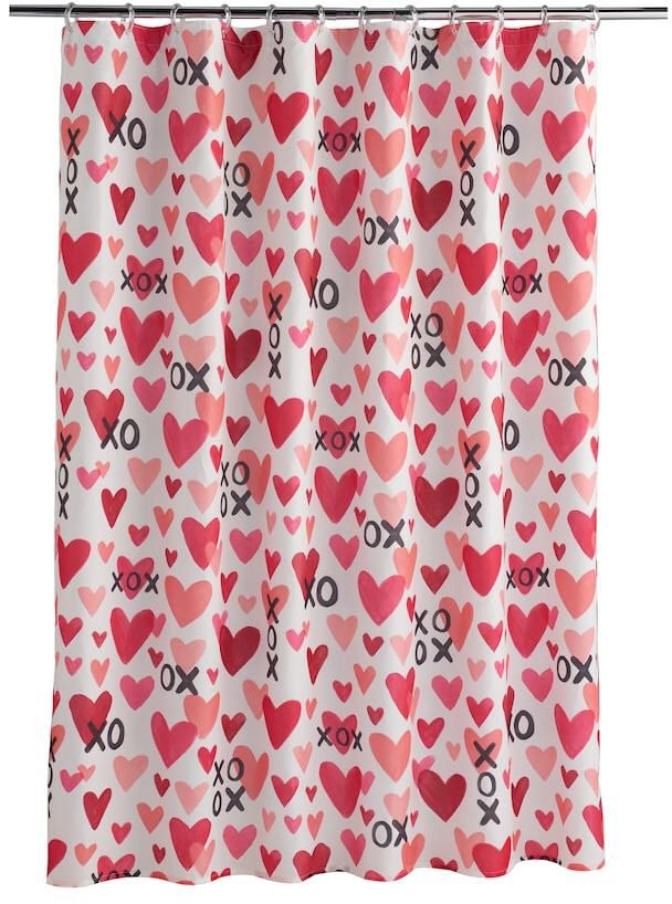 This Valentines Day Shower Curtain Is So Cute Ive Never Swapped Out My Curtains Seasonally Before But That Would Be And The Kids