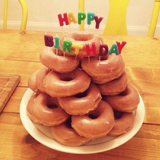 Krispy Kreme Birthday Cake