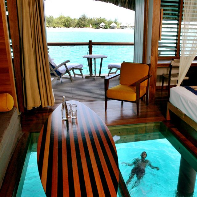 Overwater Bungalow @ Le Meridien Bora Bora: Bungalows, Buckets Lists, Favorite Places, Dreams Vacations, Best Quality, Lemeridien, Glasses Floors, Borabora, Le Meridien